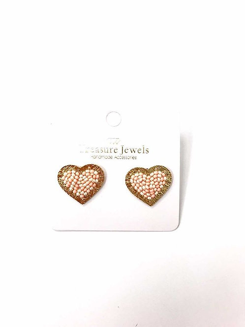 Treasure Jewels Nude Heart Stud