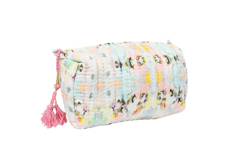 Laura Park Designs SMALL BROOKS AVENUE QUILTED COSMETIC BAG