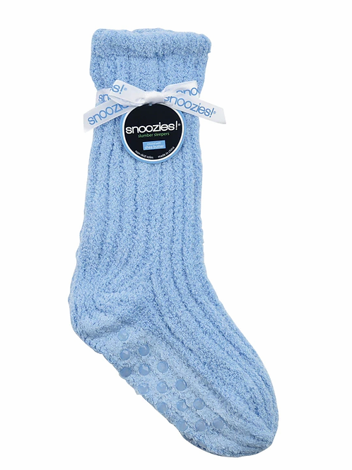 SNOOZIES Shea Butter Socks in LIGHT BLUE