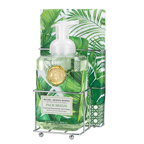 MICHEL DESIGN - Palm Breeze Foaming Hand Soap Napkin Set