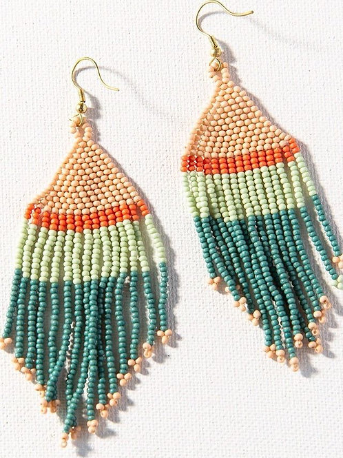 INK & ALLOY  Stripe Seed Bead Earring