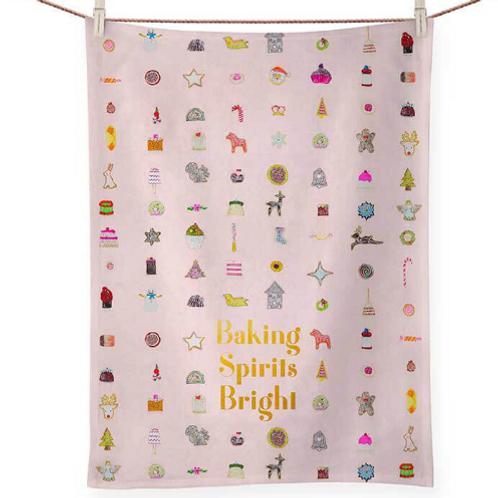 BAKING SPIRITS BRIGHT GB Art Tea Towel