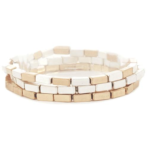 Meghan Browne KAT Gold Silver Bracelet