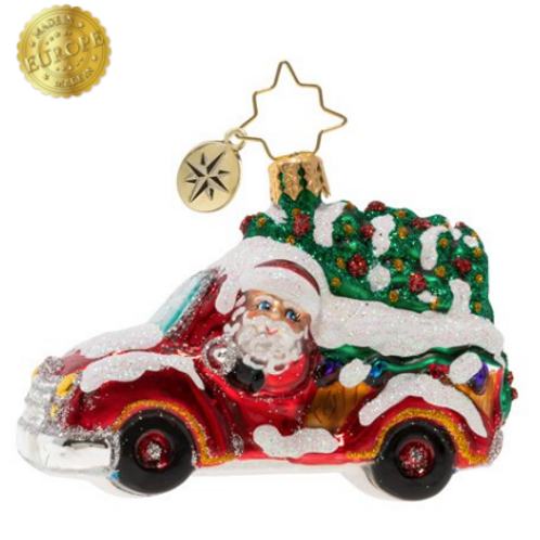 Radko Christmas Tree Delivery Gem Ornament