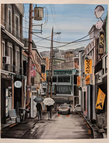 Crooked Street in Haebangchon