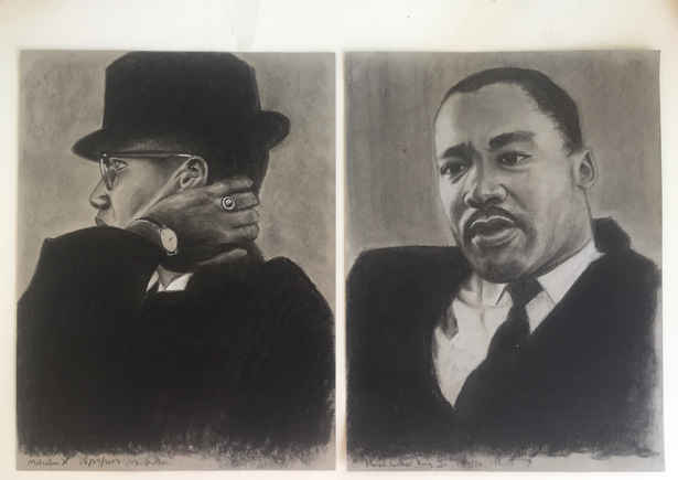 Malcolm X and Dr. Martin Luther King Jr.