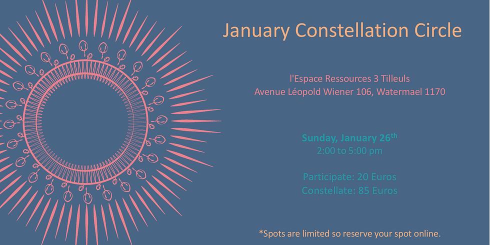 January Constellation Circle