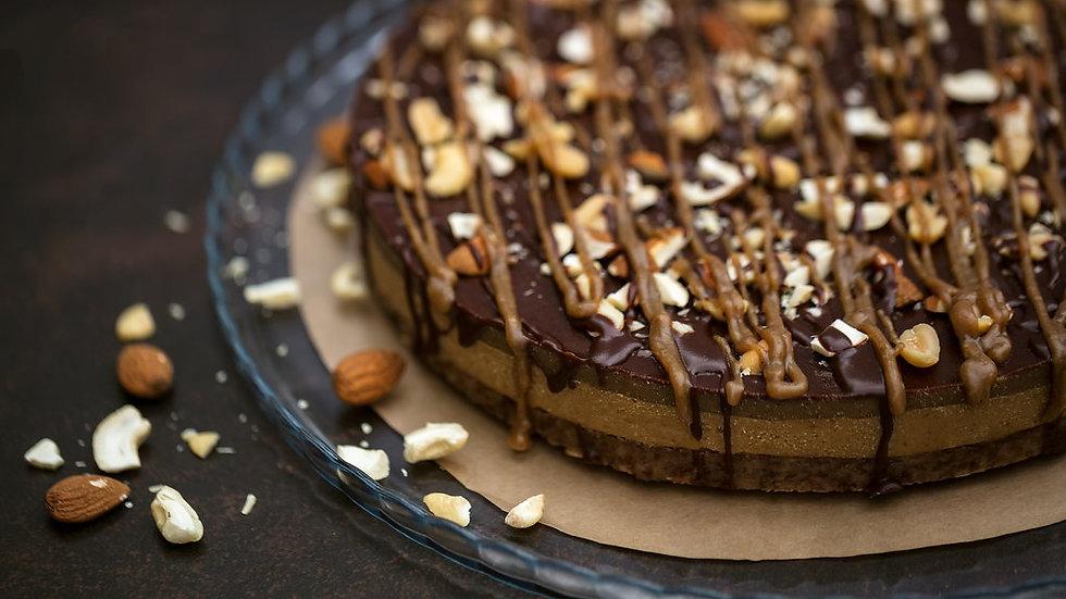Gâteau cru au caramel