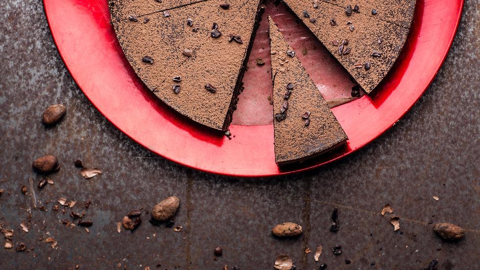 Gâteau au chocolat cru et au moka