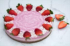 RAW Gâteau cru au fraise et yaourt