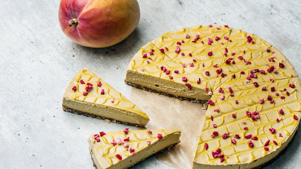 Gâteau cru à la mangue