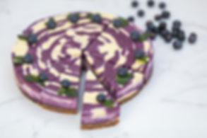 Raw Mango & Blueberry Cake