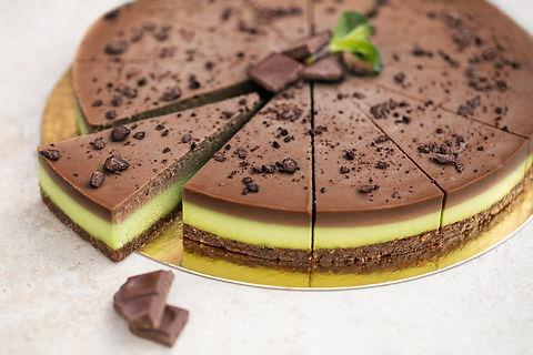 RAW Gâteau cru à la menthe et au chocolat