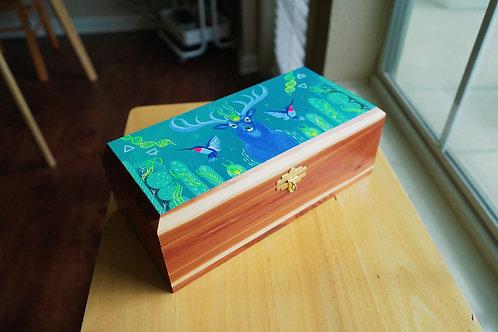 Sacred Cedar Box: Blue Deer