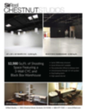 Our 3 sided Cyc studio in Burbank 1001 Chestnet  st
