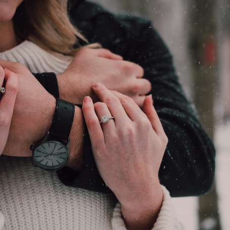 Matt & Brooklyn's Snowy Engagement Session