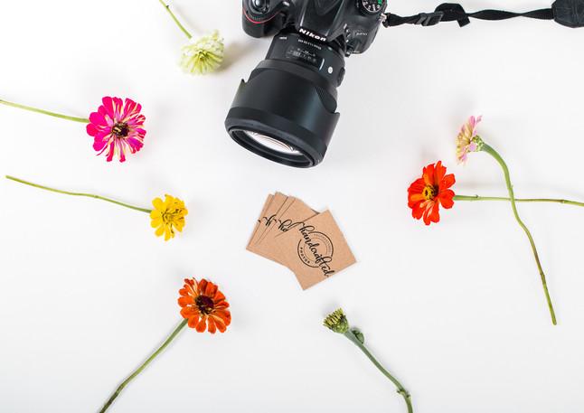 camera flatlay