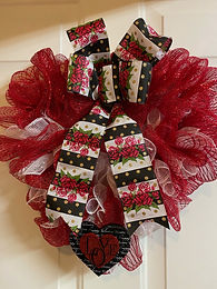 Hearts and Roses Wreath