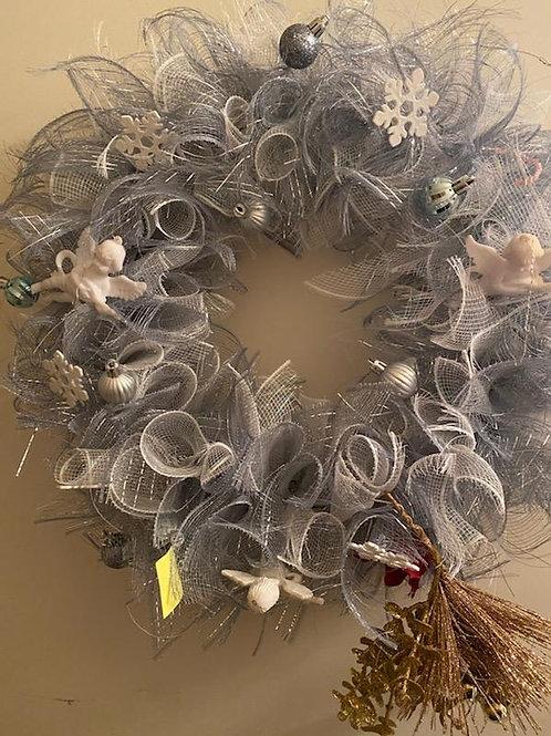 Snowflake & Angels Wreath