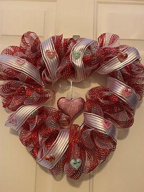 Heart Valentine Wreath