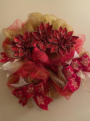 Christmas w/ Cardinal Wreath