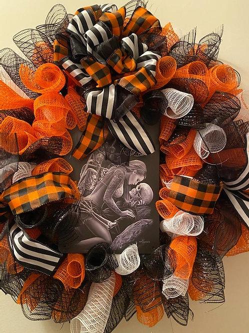 "Harley Davidson Wreath - ""Ride or Die"""