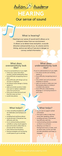 What is our sense of Hearing Infographic