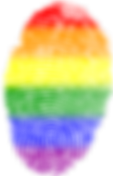 Rainbow Coloured Fingerprint