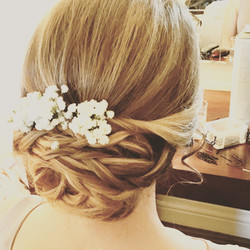 soft undo style Bridal Hair and Makeup