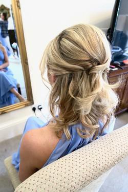 half up Wedding Hair and Makeup