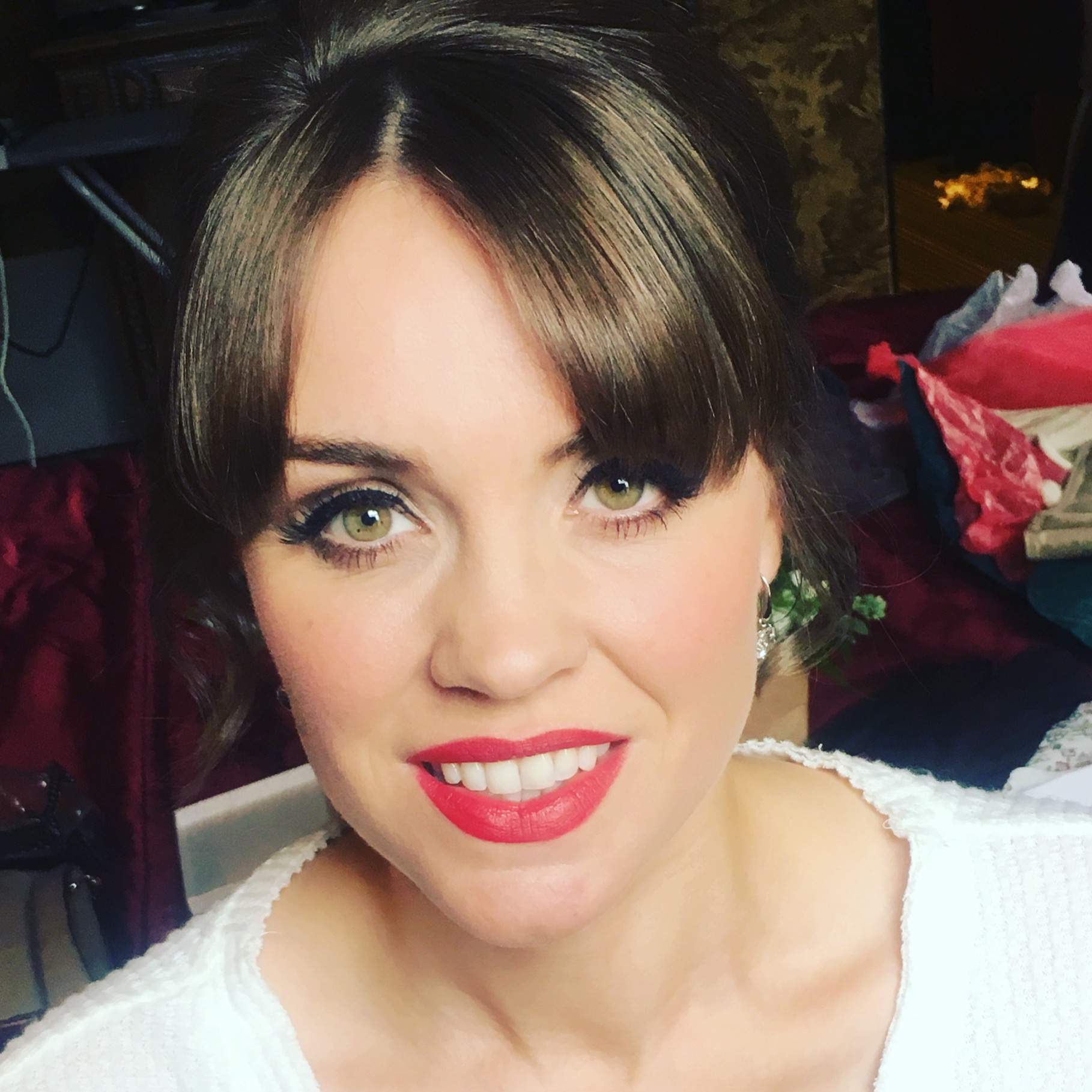 Red Lips Edinburgh Wedding Hair & Makeup