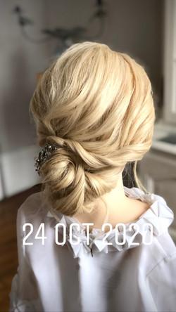 Boho Bridal hairstyling