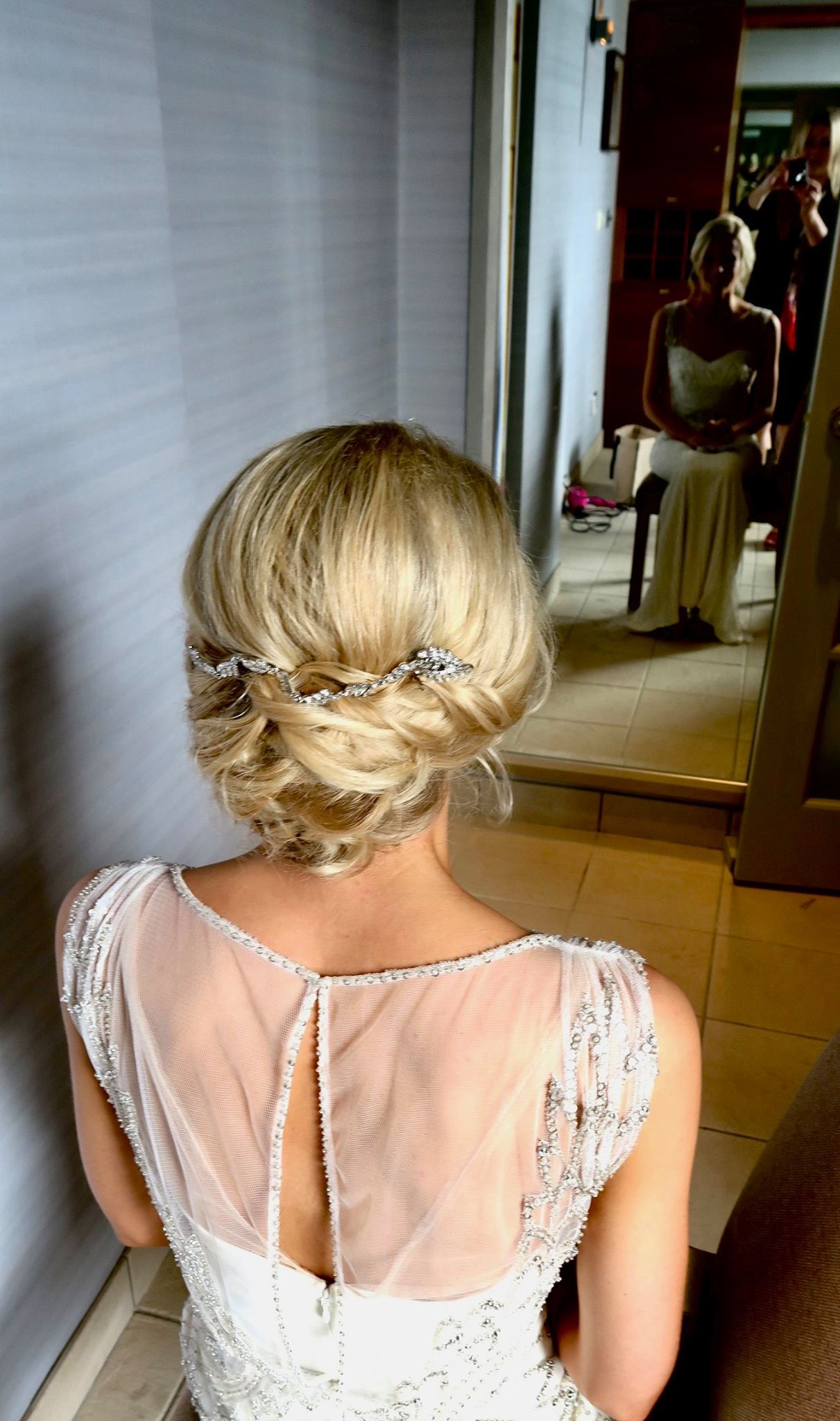 low soft bun Wedding Hair & Makeup