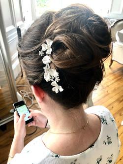 High bun Bridal hair style