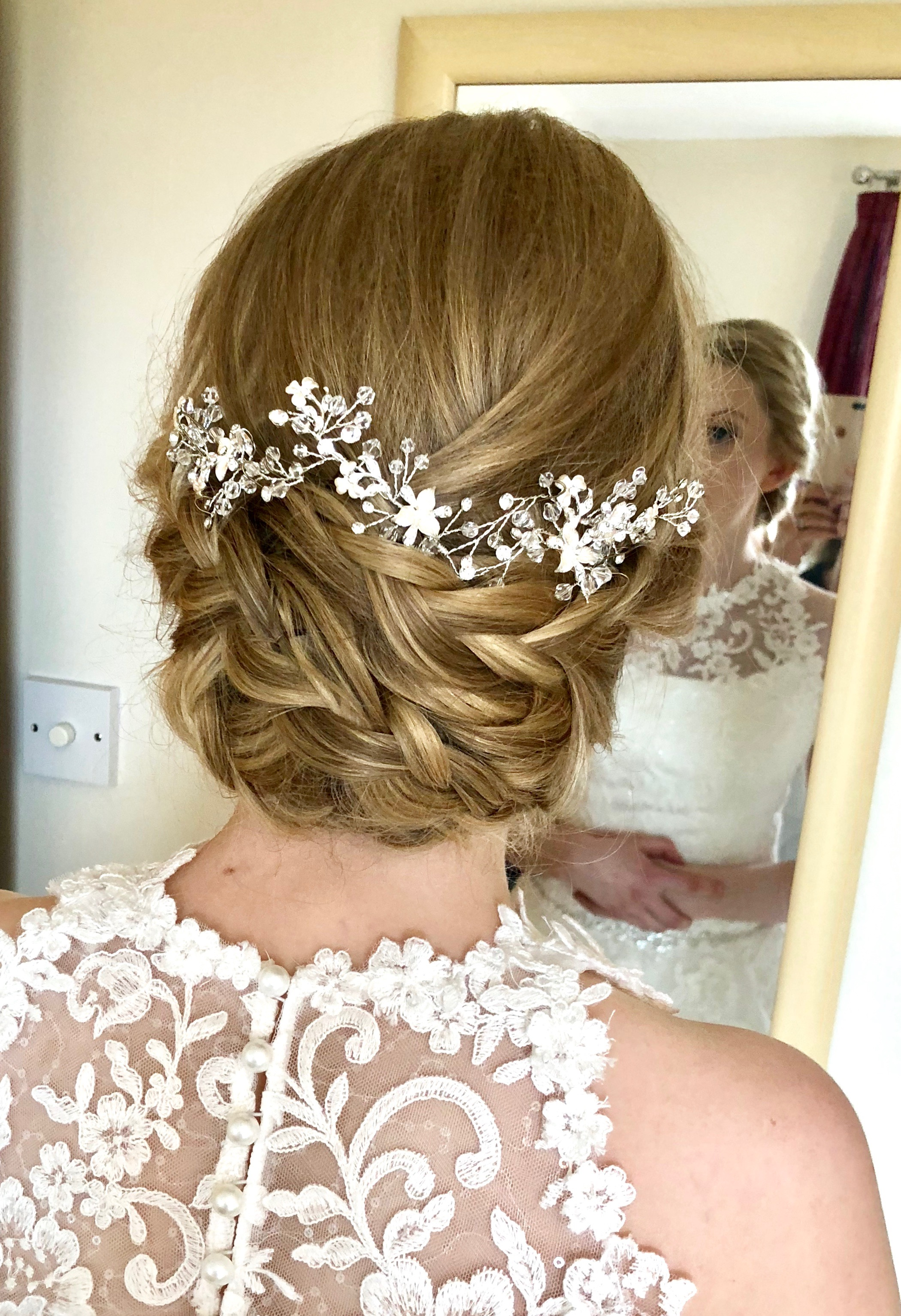 soft braided Bridal Hair and Makeup