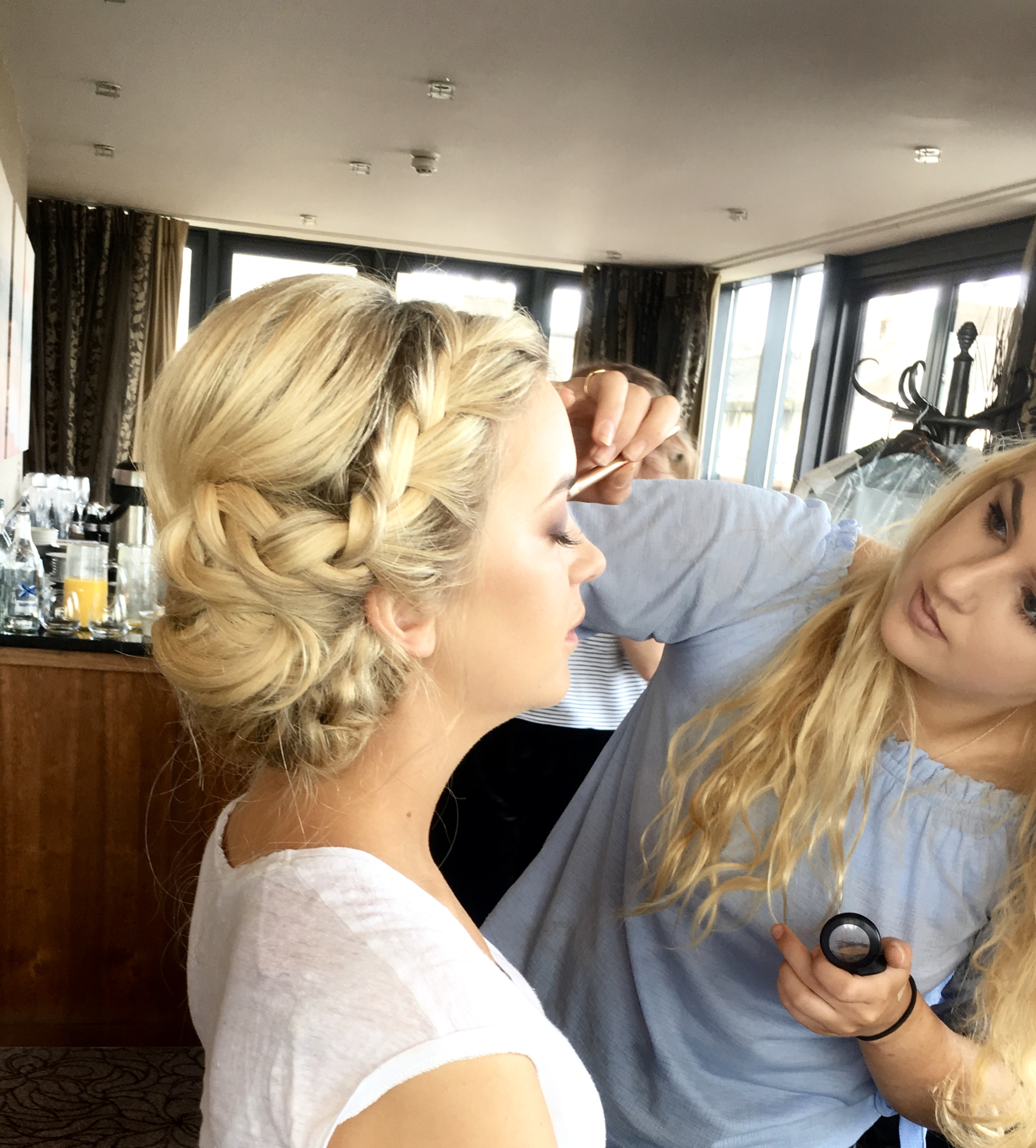 Bridal Hair and Makeup application