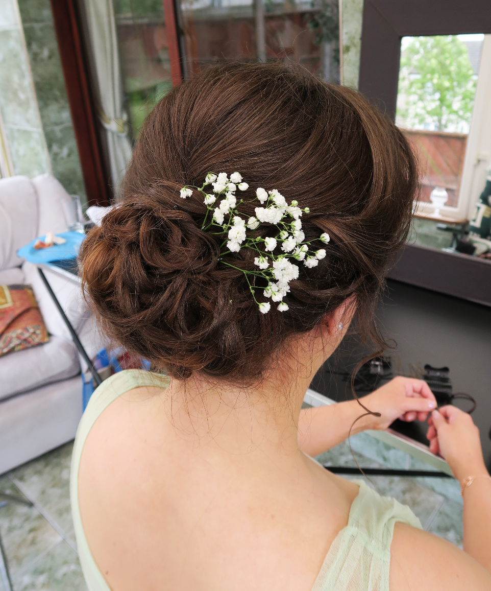 Floral hair piece Bridal hair Edinburgh