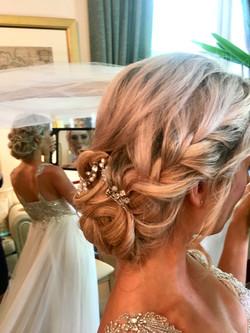 Braided Bridal hair and Makeup