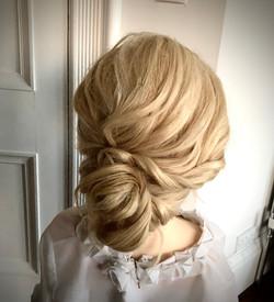 soft textured bridal updo
