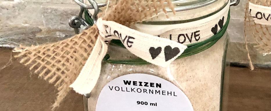 Weizen-VOLLKORNMEHL im Geschenkglas