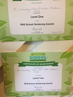 We received our level 2 gardening award from the RHS!