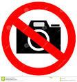 'No cameras'