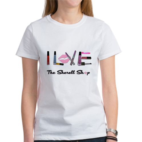 I Love The Sherell Shop White Graphic Tee