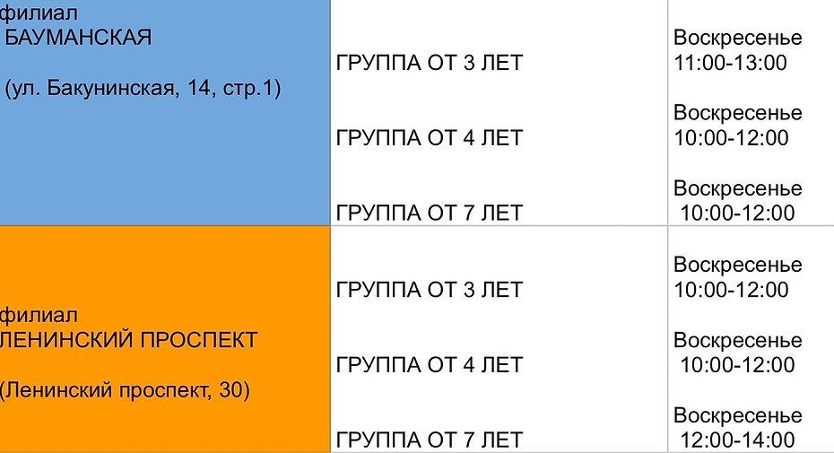 Расписание Бауманская, Ленинский проспект