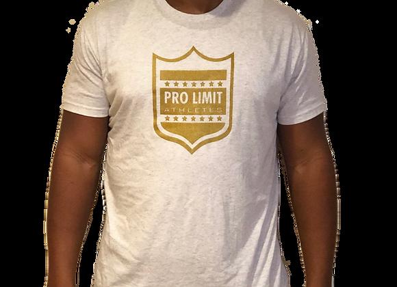 Pro Limit Athletes Short sleeve White T-Shirt Gold Logo