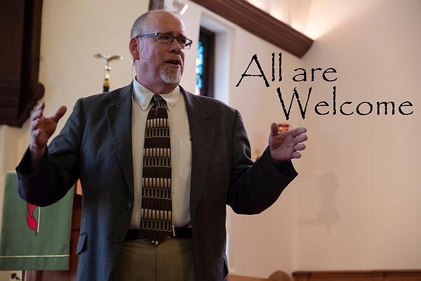 01b (5x4) Welcome Pastor Blaic speaks on