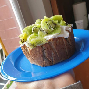 Big-pancake senza glutine ai kiwi