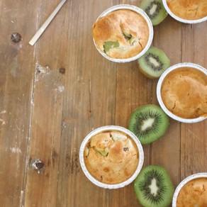 Kiwi- muffins senza glutine