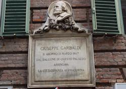 Targa commemorativa Garibaldi