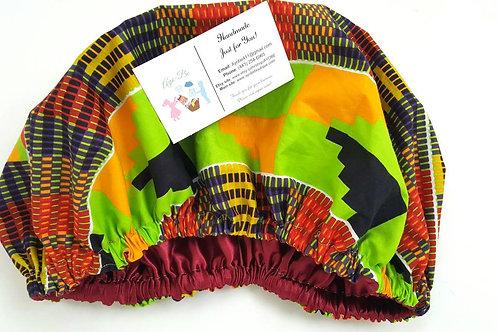 Zuma (Adult) African Print Satin Bonnet